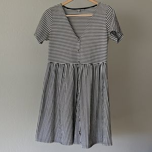ASOS striped skater dress
